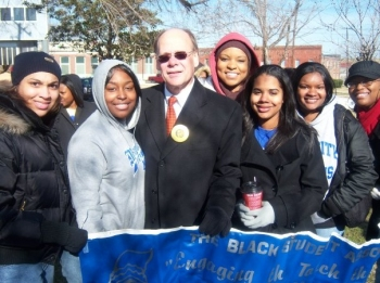 Congressman Cohen with Members of the Black Student Association at the University of Memphis