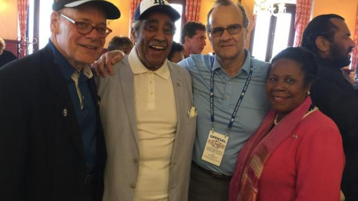 Congressman Steve Cohen, Congressman Charles Rangel, 9-time All-Star, former manager of the New York Yankees, and MLB's chief baseball officer Joe Torre, and Congresswoman Sheila Jackson Lee at the MLB Luncheon in Cuba