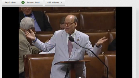 Cohen debates his Afghanistan Infrastructure Fund amendment on the House Floor